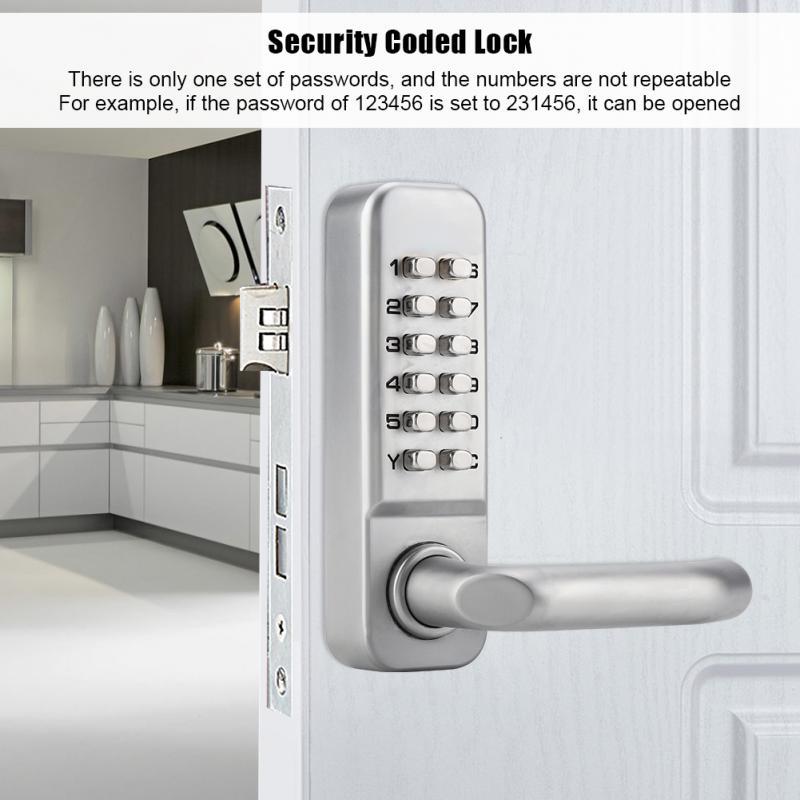 Digital Keyless Door Lock Password Cerradura Tarjeta Mechanical Combination Safety Code Lock For Doors Handle Door