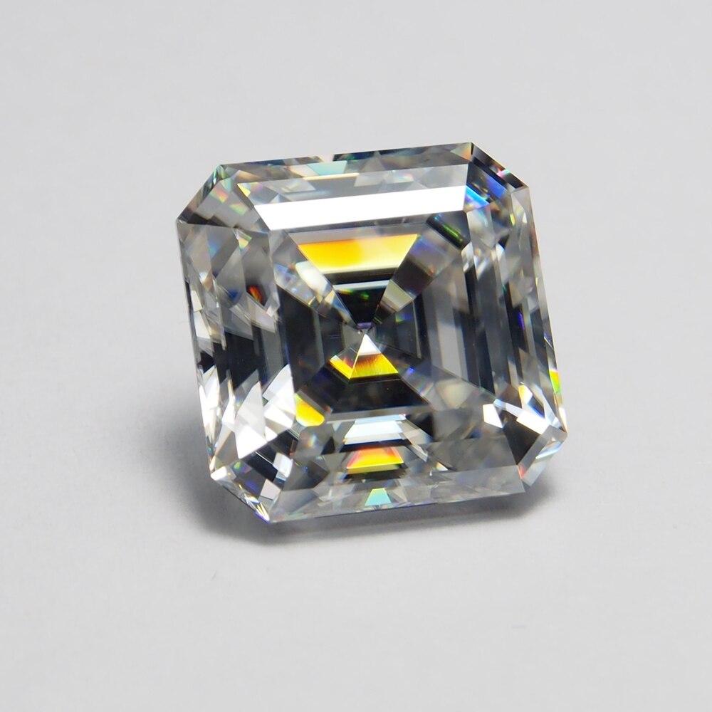 10*10mm Asscher Cut 4,11 Carat Vvs Moissanite Super Weiß Lose Moissanite Diamant Für Hochzeit Ring