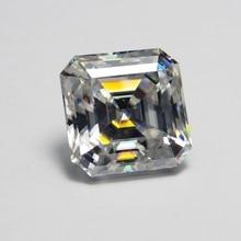 10*10mm Asscher Cut  4.11 carat VVS Moissanite Super White Loose Diamond for Wedding Ring