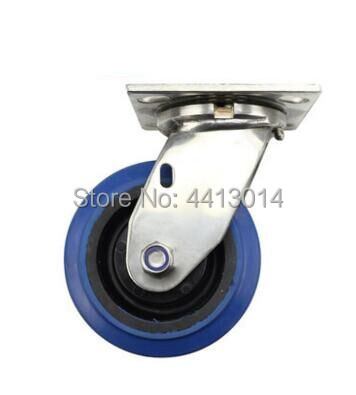 6 inch 304 Stainless Steel Swivel rubber rubber wheel with SUS 304 stainless steel bearing and SUS 304 bush wheel caster