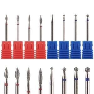 Image 1 - 8 סוגים יהלומי נייל מקדח רוטרי Burr לציפורן נקי חשמלי Bits עבור מניקור תרגיל אביזרי נייל מיל קאטר MF01 08