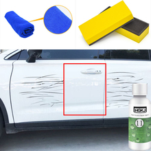 50ml Car Paint Scratch Repair Remover Agent Polishing Wax Kit Headlight Lamp Renovation Agent+Towel+Sponge