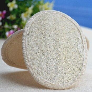 100pcs/lot 11*16cm natural bath loofah pad loofah  remove the dead skin loofah pad sponge for home or hotal