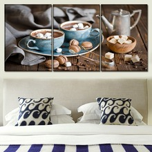 Wall Art Canvas Print Poster Living Room Home Decor 3 Pieces Food Chocolate And Marca Dragon Painting Modular Framework