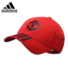 Adidas MUFC C40 CAP Men And Women Running Hats Red Magic Motion Hat Manchester United Football Peaked Cap #DQ1526.(China)