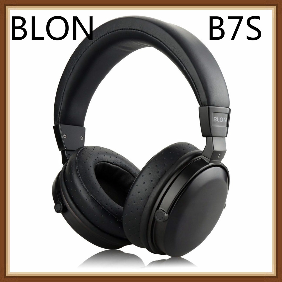 BLON B7S BossHifi HiFi Music Wooden Headphones 50mm Speaker Dynamic Noise Cancelling Active Monitor Studio DJ