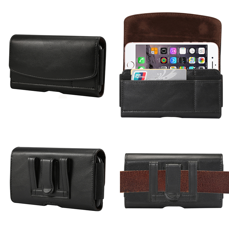 Belt Clip Holster Leather Pouch Case For Sony Xperia Z2 Z3 Z5 Mini Xz Xz1 Xz2 X Compact L1 L2 Classical Bag Card Holder Cover Curing Cough And Facilitating Expectoration And Relieving Hoarseness Cellphones & Telecommunications Holsters & Clips