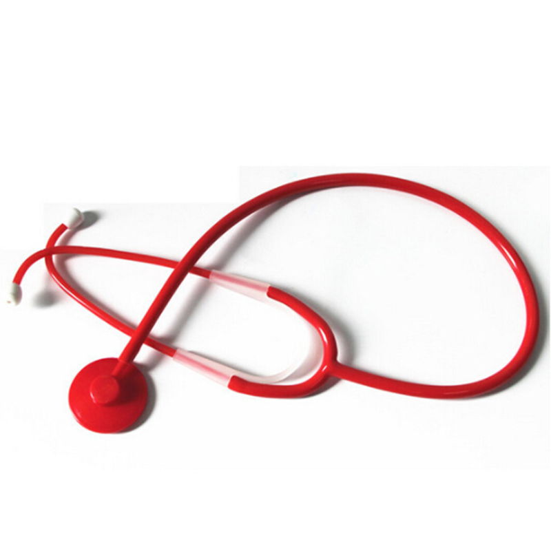 Plastic Kids Pretend Play Nurse Doctor Stethoscope Mini Medical Toy Red