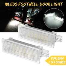 2 шт автомобилей светодиоды для педалей двери интерьера плафон для BMW E92 E81 E87 F20 E60 1 3 5 серии