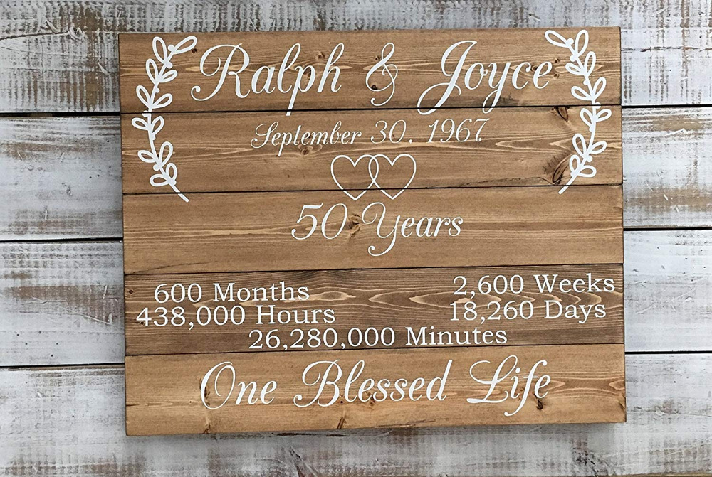 Unique Parent Wedding Gift Ideas: Personalized 50 Year Anniversary Gift Ideas Custom Wood