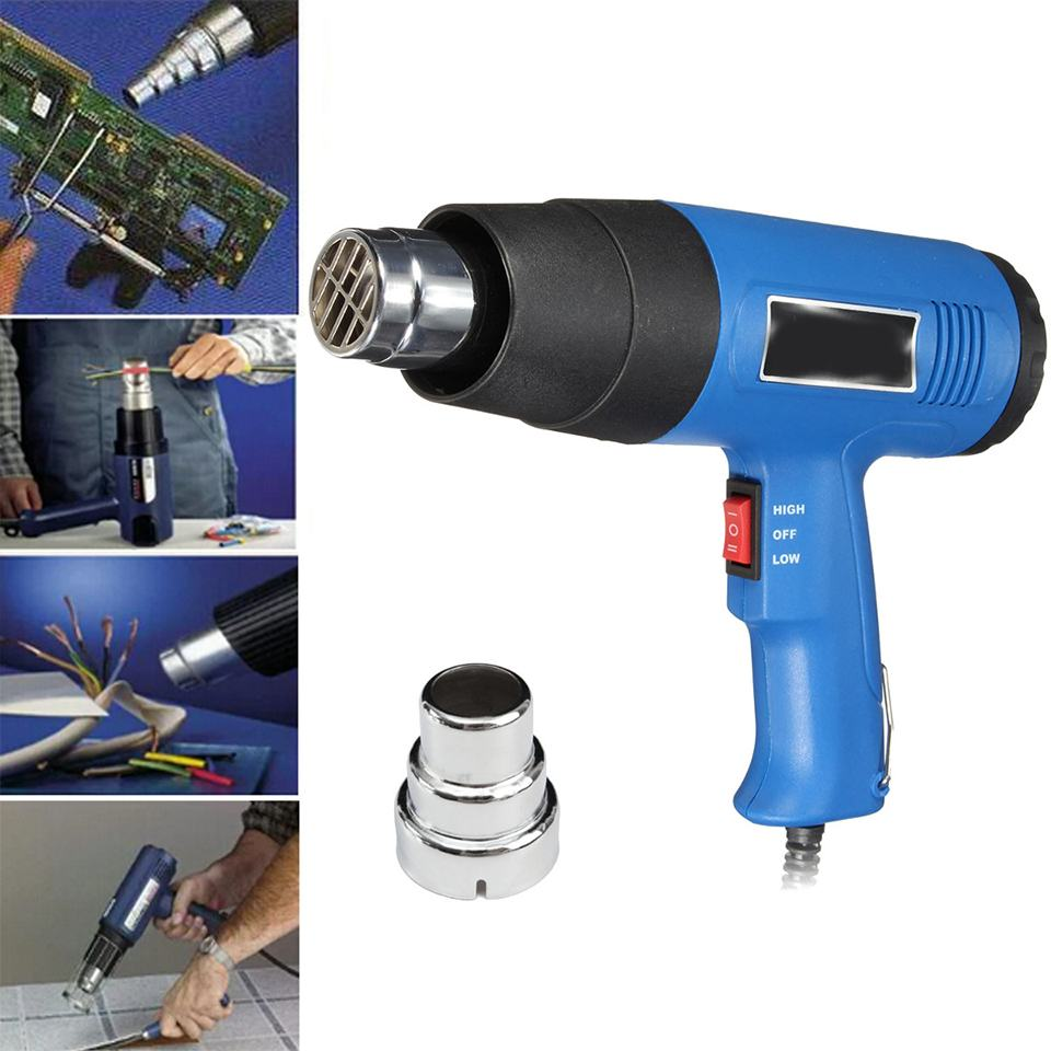 1500W 220 240V Electric Hot Air Guns Temperature controlled Building Heat Guns dryer Adjustable Thermoregulator Power Tools