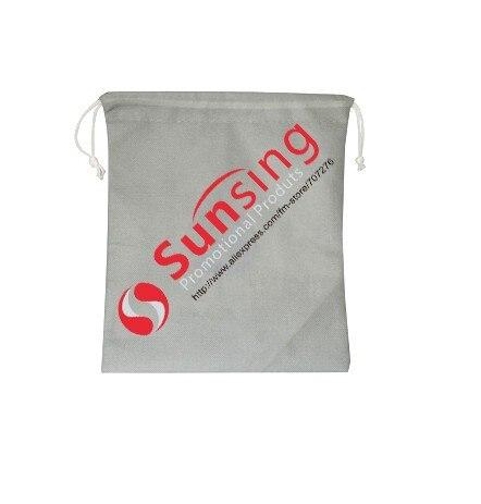12*18 см BG016 логотип подарок с принтом/рекламные пользовательские личности логотип нетканый мешок, 1000 шт./лот