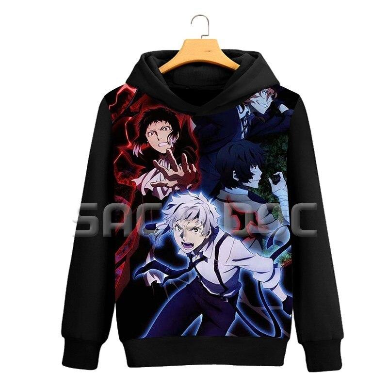 Anime Bungou Stray Dogs Mens Hoodies Dazai/Atsushi 3D Print Sweatshirts Women Men Long Sleeve Coat Autumn Winter Casual Hoodies cardigan