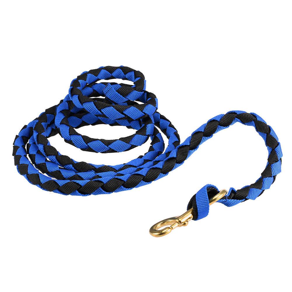 2,0 м/2,5 м/3,0 м ведущая веревка для поводьев высокого качества Плетеный конский поводок для бега коса конский Холтер с латунной защелкой