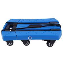 Складная переносная тележка на 6 колесах с телескопической ручкой, синяя Бытовая Тележка для покупок, высокое качество