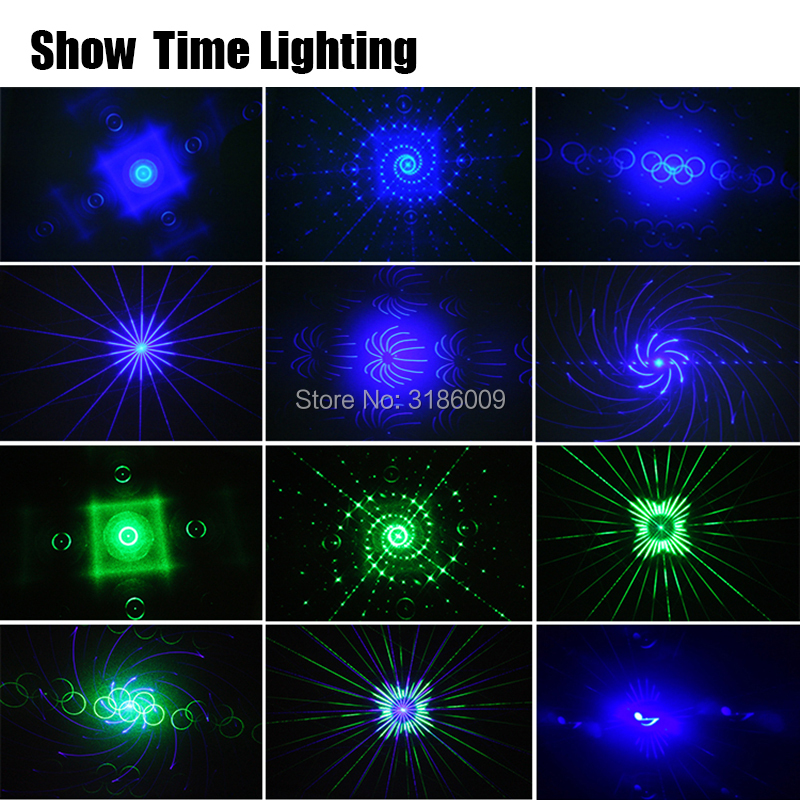 Show Time 6 lentille DMX rouge vert bleu faisceau RGB 16 modèles Laser Scanner lumière maison fête DJ scène éclairage KTV Show secteur laser - 5