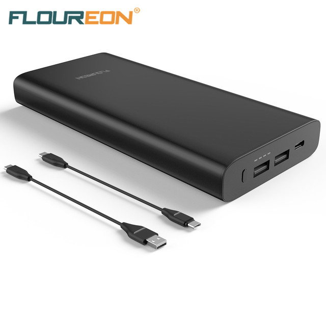 Floureon PD 60W USB C Power Bank Charger 26800mAh 20V 3A Max External Battery 3 USB Ports With Type-C Input/Output C908-PD
