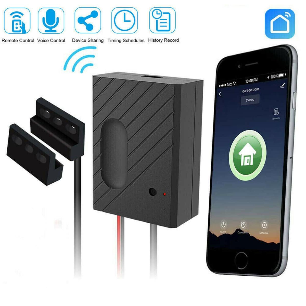 Ewelink Interruptor WiFi Controlador para o Carro Da Porta Da Garagem Abridor Da Porta Da Garagem Controle Remoto APP Controle de Cronometragem Voz