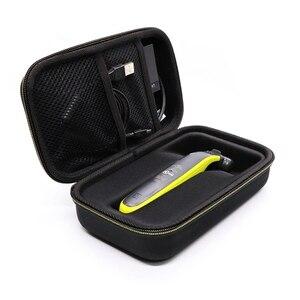 Image 3 - Eva 휴대용 케이스 필립스 oneblade 트리머 면도기 및 액세서리 여행용 가방 보관함 박스 커버 파우치 라이닝 포함