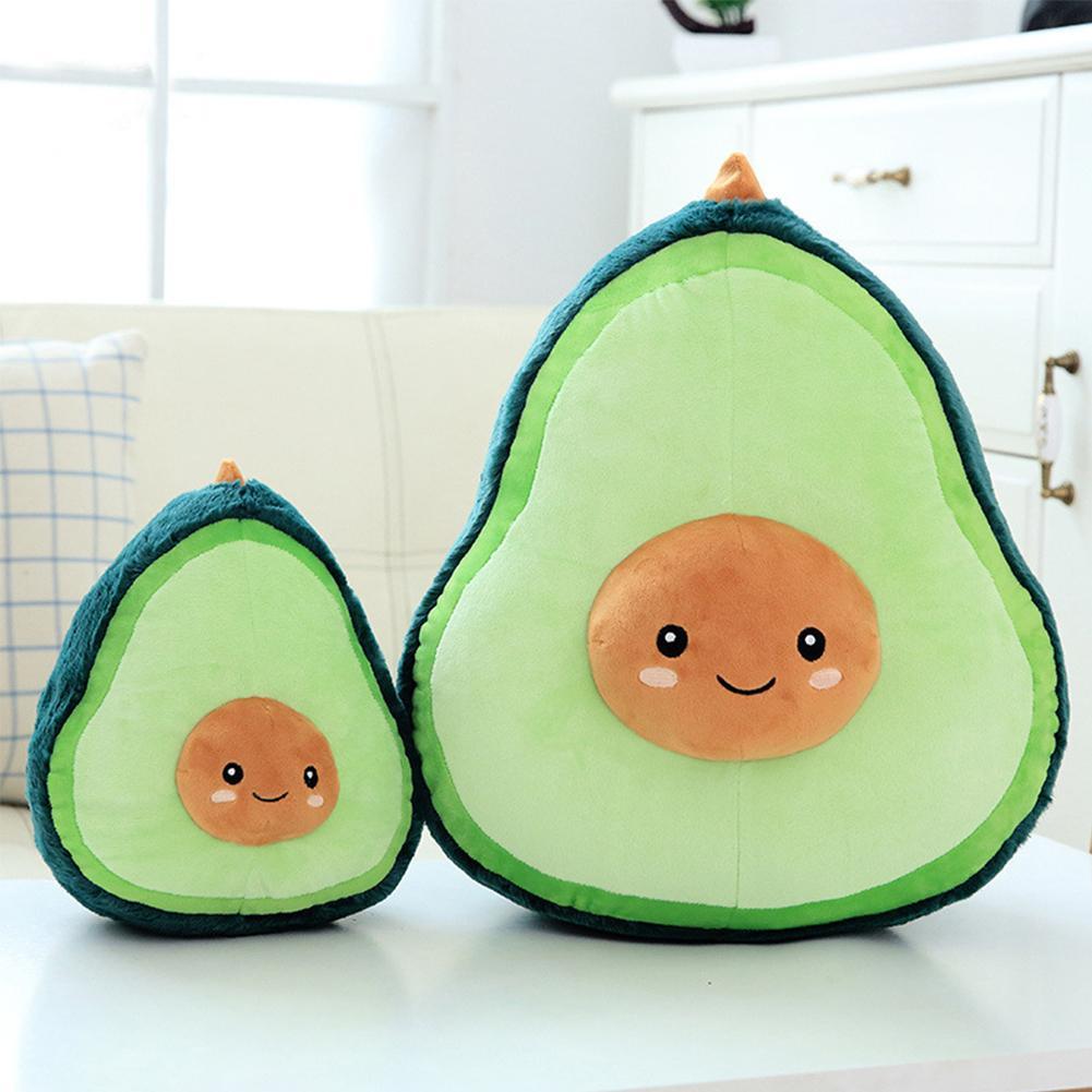 Avocado Vorm Kussen Knuffel Fruit Comfortabele Gevulde Pluche Kussen Pop Speelgoed Voor Kinderen Meisjes Kamer Decoratie