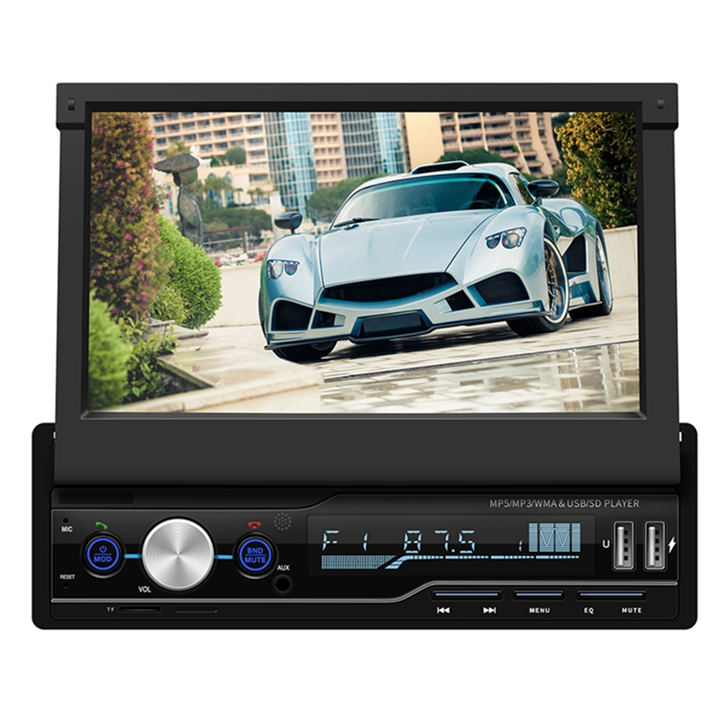 7-Inch Retractable Mp5 Card Player Mp4 Player Bluetooth Reverse Image For Mp3 Radio7-Inch Retractable Mp5 Card Player Mp4 Player Bluetooth Reverse Image For Mp3 Radio