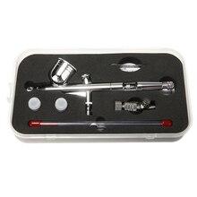 0,2/0,5mm инструмент для аэрографа 130 T двойного действия Аэрограф Гравитация подачи Аэрограф самодельный распылитель инструмент для искусство татуировки Краски инструмент пистолет-распылитель набор