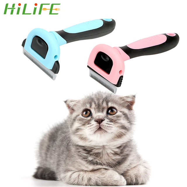 HILIFE Pet Dog Cat Hair Removal Brush Comb Hair Shedding Trimmer Comb for Cats Dogs Furmins Pet Brush Grooming Tool Pet Products