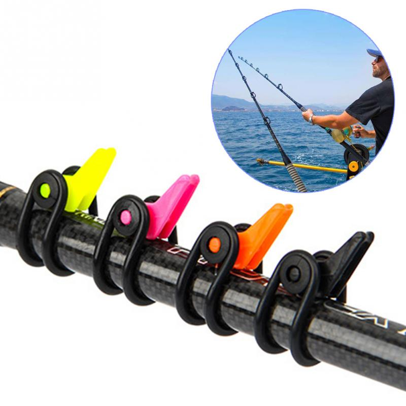 10Pcs/pack Adjustable Fishing Bait Lure Hanger Hook Keeper Fishing Rod Accessories Plastic Lure Holder#137