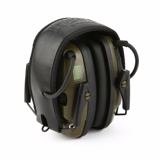 Luar Ruangan Olahraga Anti-Noise Impact Suara Amplifikasi Elektronik Menembak Earmuff Taktis Berburu Mendengar Pelindung Headset