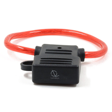 лучшая цена 8 AWG Gauge MAXI Blade Fuse Holder Inline Wire 12-24V Volt Waterproof + 40A Fuse