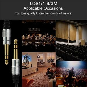 Image 5 - 3.5mm to 6.5mm Adapter Jack Audio AUX Cable for Mixer Amplifier Guitar Male