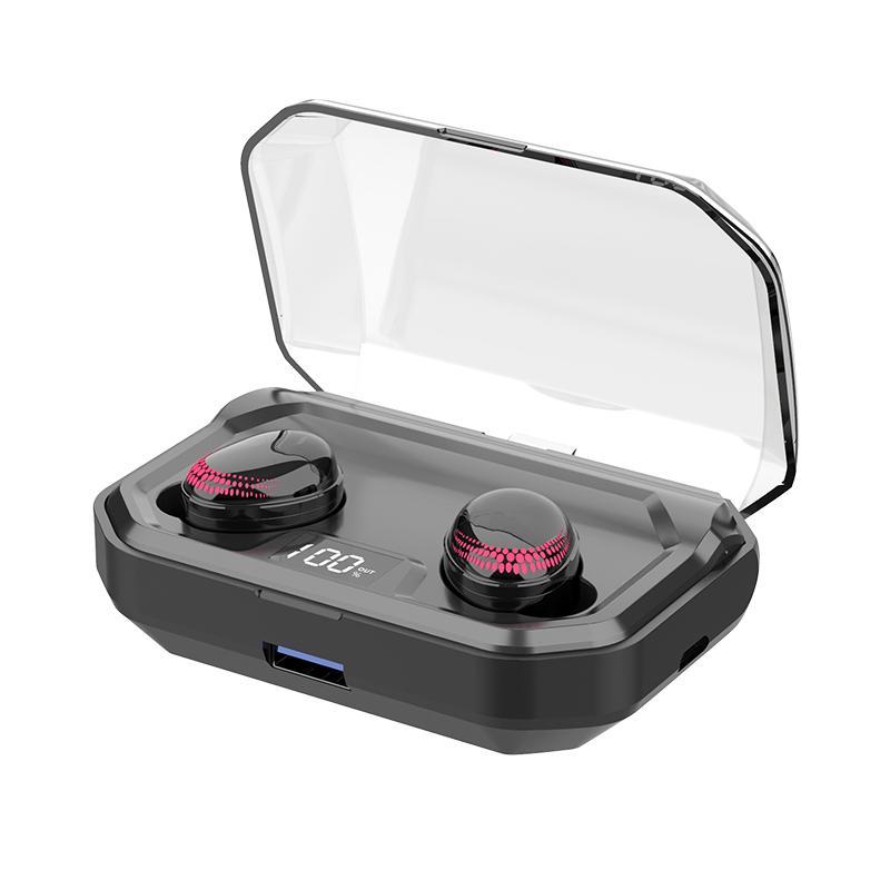 Sans fil Bluetooth 5.0 Smart Touch TWS casque écouteurs haute qualité stéréo réduction du bruit affichage numérique sport écouteurs
