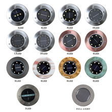 8LED solar ground light waterproof led underground lamps garden floor deck lights for Yard Driveway terrace stairs lawn lighting