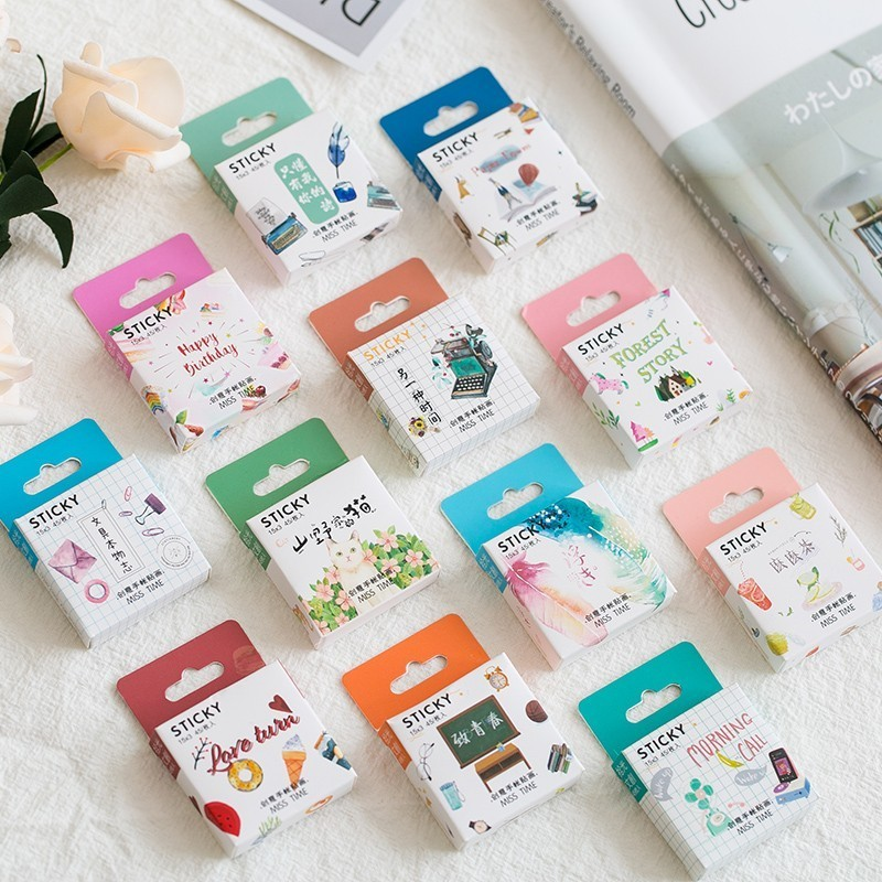 45PCS/box New Cute Good Morning Paper Lable Sealing Stickers Crafts Scrapbooking Decorative Lifelog DIY Stationery45PCS/box New Cute Good Morning Paper Lable Sealing Stickers Crafts Scrapbooking Decorative Lifelog DIY Stationery