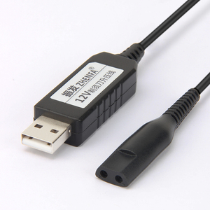 Image 2 - USB ชาร์จ 12 v สายทางเลือกเครื่องโกนหนวด Braun Charger อะแดปเตอร์สำหรับไฟฟ้ามีดโกน Series 3 310 320 330 340 350 5497