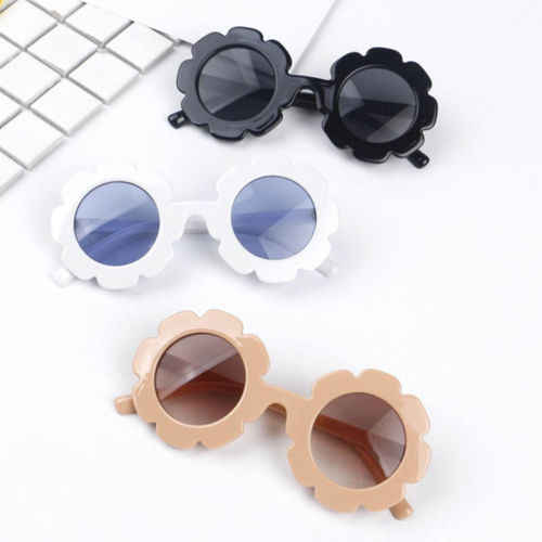 Toddler Baby Boys Girls Kids Fashion Cool Concave shape Floral Vintage Shading Protection Sunglasses Concave shape