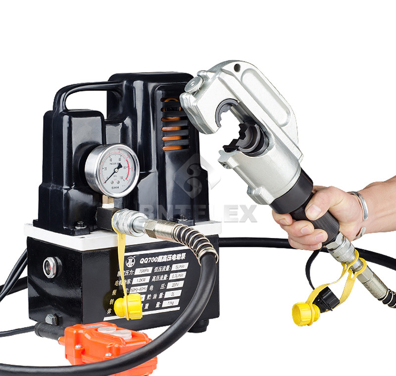 110v 220v 50hz or 60hz Electric hydraulic crimping pliers 50 to 400mm2 split hydraulic cable crimping tool with electric pump