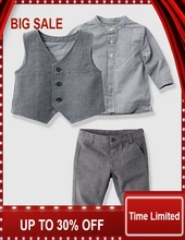 2016 autumn Baby suit gentleman boys clothing set vest+long-sleeves shirt+ long pant/Popular style cloth 2018 new fashion baby clothing set boys bowtieshirt vest pant suit 3pcs 100% cotton children gentleman long sleeve outerwear