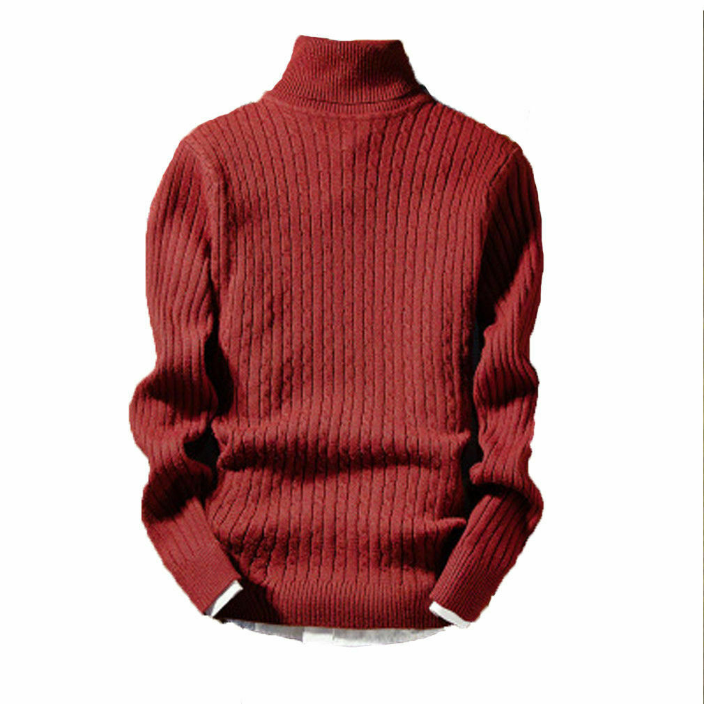 Men's Pullover Solid Knitted Sweater Stitching Hedging Sweatershirt Sweaters