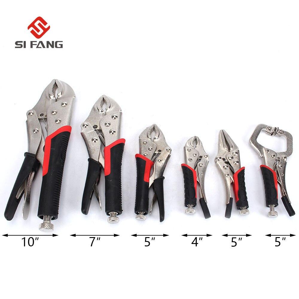 6pcs Set High Carbon Steel Vise Grip Locking Welding Quick Pliers Tongs Forceps Wood Tenon Welding