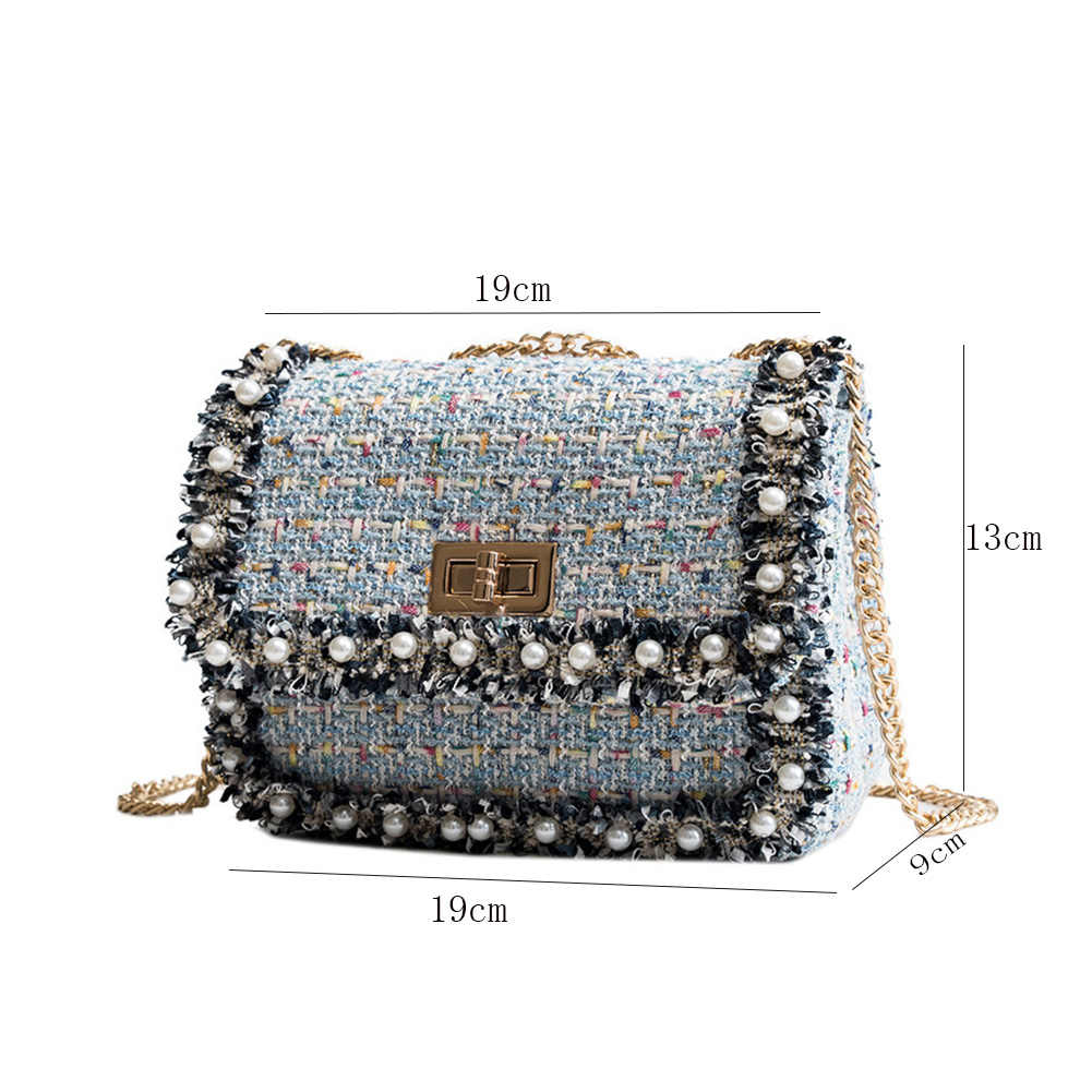 2018 New Top Selling Women Pearl Cross Body Phone Purse Fashion Lady  Messenger Shoulder Bag Winter