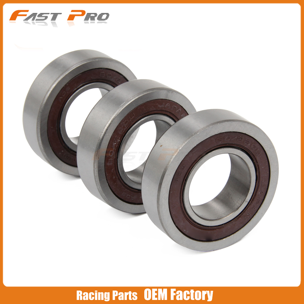 Motorcycle 3pcs Rear Hub Steering Roller Bearings For SUZUKI RM125 RM250 RM 125 250 00 01 02 03 04 05 06 07 08 2000 2001 2008