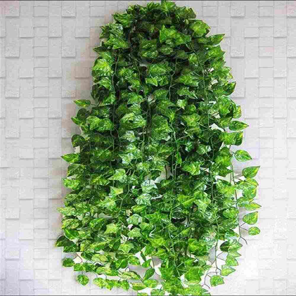 1PC Changeable Style  Artificial Greeen Scindapsus Lizard Habitat  Aureus Vine Reptiles Terrarium Decor 2M