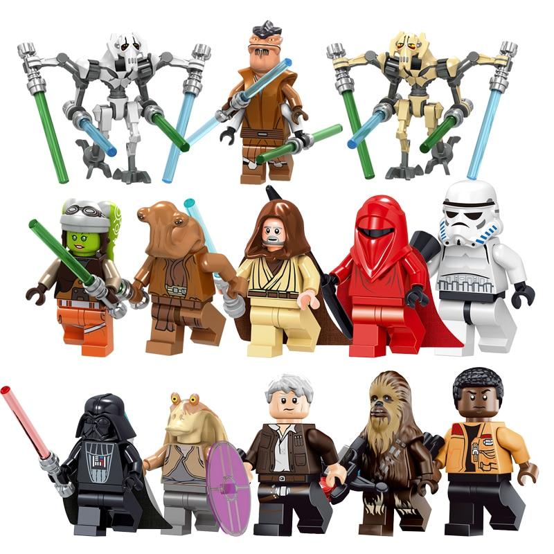 Radient Single Sale Star Wars Figures Sith Trooper Grievous Han Solo Maz Anakin Darth Vader Yoda Starwars Building Blocks Toys Legoings Elegant And Graceful Blocks Model Building