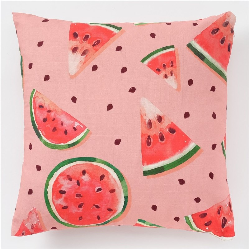 Decorative pillow case Ethel Watermelons, 45x45 cm, репс, pl. 130g/m², 100% cotton decorative pillow case ethel triangles 45x45 cm репс pl 130g m² 100% cotton