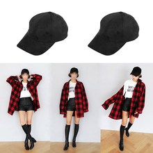 Baseball Cap Adjustable Men And Women Fashion Hat Outdoor Riding Sports Leisure  Suede Solid Color hat Accessories