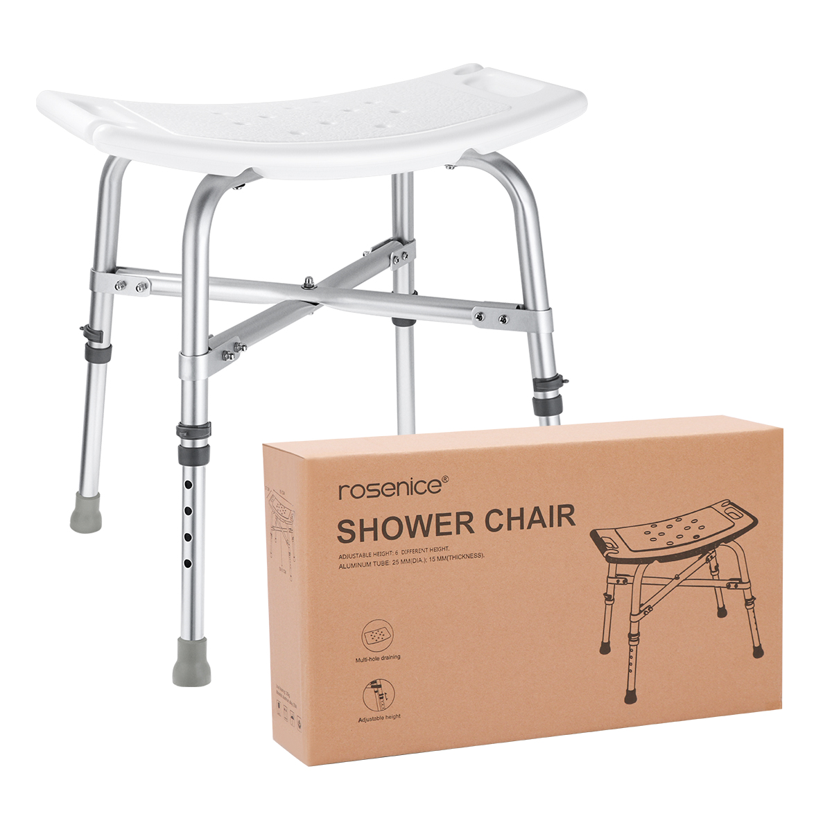 Rosenice Einstellbare Langlebige Hocker Sitz Badewanne Bench Dusche Stuhl Für Home Bad Alte Person