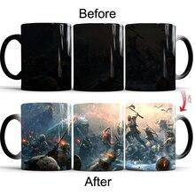 God of War 4 Creative Color Change Mug Hot Changing Color Cups Heat Reactive Mugs Home Milk Coffee Cup Magic Mug baldr earth mark cup tetris the heat change thermal color mugs