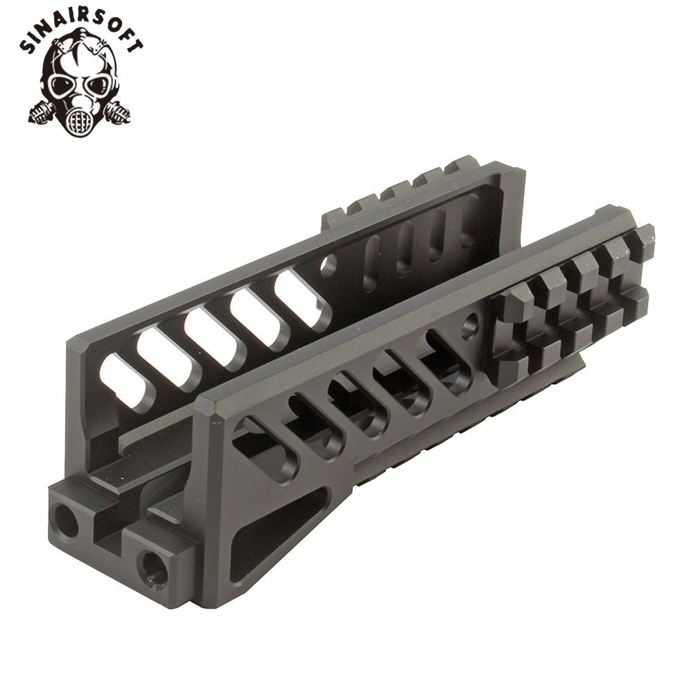 Hot Tactical Aks 47U Picatinny Rail Handguard Multi function Aluminum Cutting B11 Hunting Airsoft Paintball Army