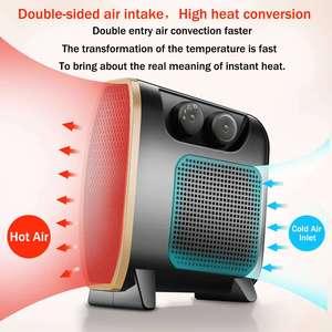 Image 2 - 220V 1500W Heater Draagbare Mini Elektrische Kachel Elektrische Thuis Verwarming Ventilator Handy Air Warmer Stille Home Office Handy heater